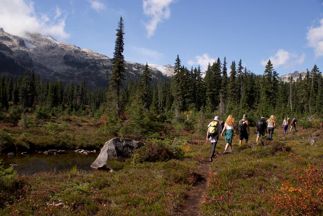 Backcountry hiking in Whistler's Callaghan Valley