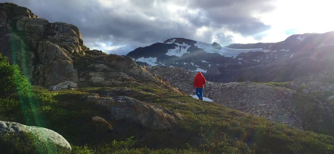 Hiking in the solitude and Wilderness